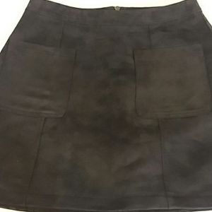 Old Navy Black Suede-like Mini Skirt Sz. 4